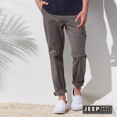 JEEP 美式經典戶外休閒長褲 (淺軍綠色)