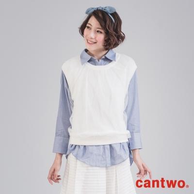 cantwo透明網紗針織背心-共三色
