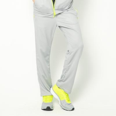 FIVE UP(男)-舒適簡約針織長褲-淺麻灰