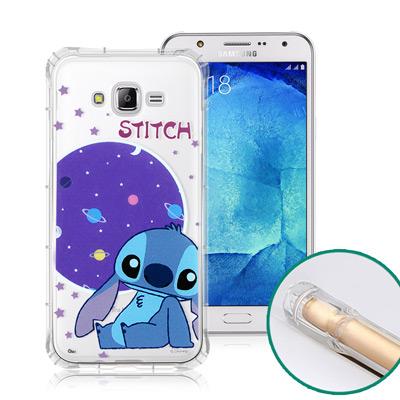 迪士尼授權正版 Samsung Galaxy J7 空壓安全手機殼(史迪奇)