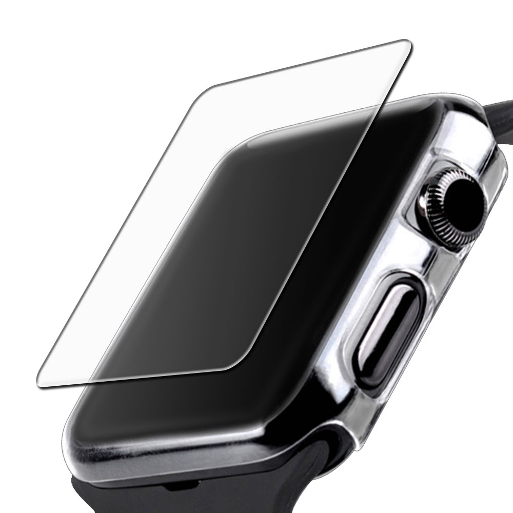 Apple Watch series 1,2,3 專用清透水感保護套+鋼化玻璃膜