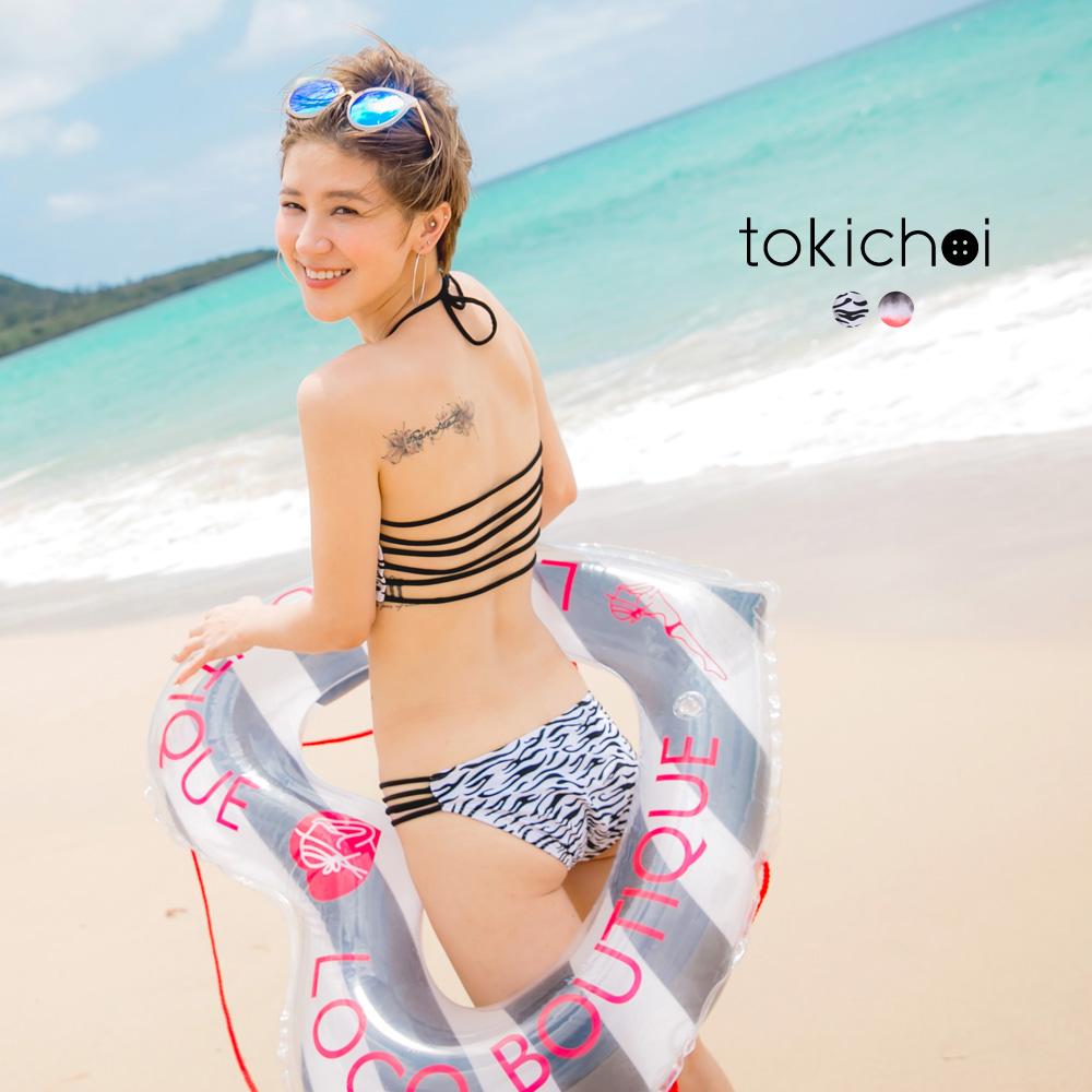 東京著衣 時髦圖案比基尼套裝(共二色)