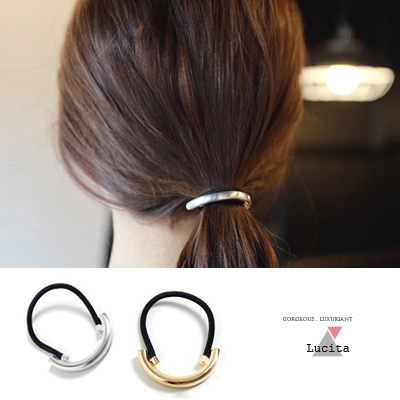 LuciTA-秋冬空運新款-韓國時尚金屬感髮圈