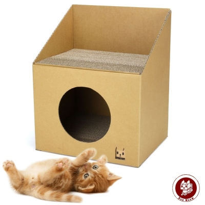 Box Meow 瓦楞貓屋-DIY透天厝 (CS025)