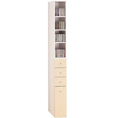 米妮Mini 小細縫/抽屜收納櫃組-白橡色