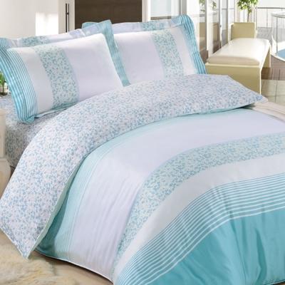 HOYACASA-夢幻藍調-特大四件式天絲兩用被床