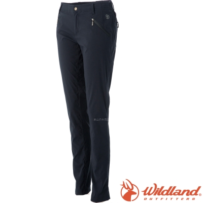 Wildland 荒野 0A0A51313-54黑 女 彈性透氣抗UV合身褲