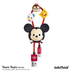 InfoThink TSUM TSUM iPhone/iPad快充傳輸線-米奇