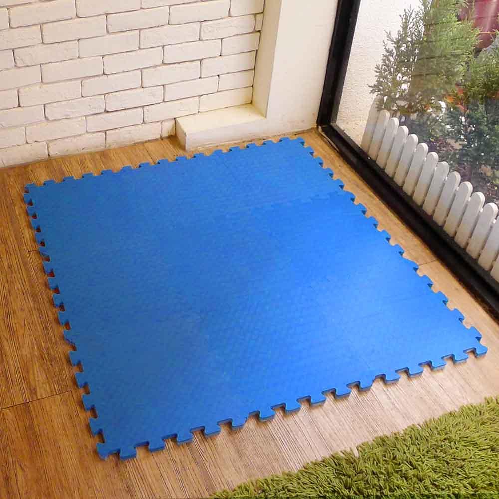 新生活家 EVA運動安全地墊62x62x1.3cm-藍色(12片入)