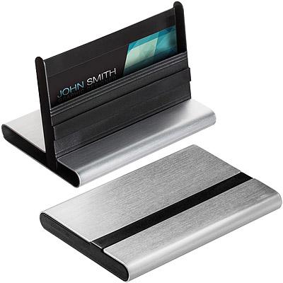 REFLECTS 雙用鋁名片盒(銀黑)