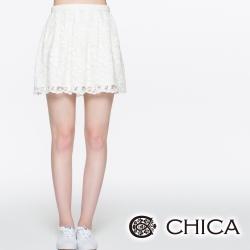 CHICA 蕾絲中腰短裙(共一色)