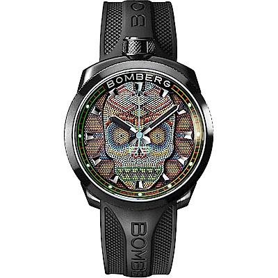 BOMBERG 炸彈錶 BOLT-68 Skull Pearl 珍珠骷顱手錶-彩色