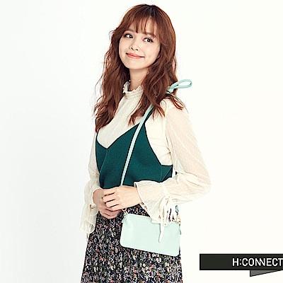 H:CONNECT 韓國品牌 女裝 - 蕾絲針織背心上衣-綠