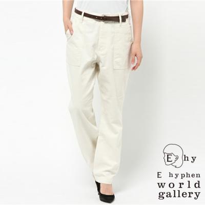 E hyphen 寬鬆休閒工作褲