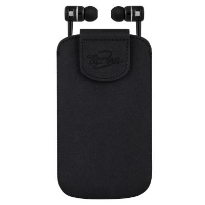 T.C.STAR 6吋手機皮套附入耳式耳機麥可風 TCE7020