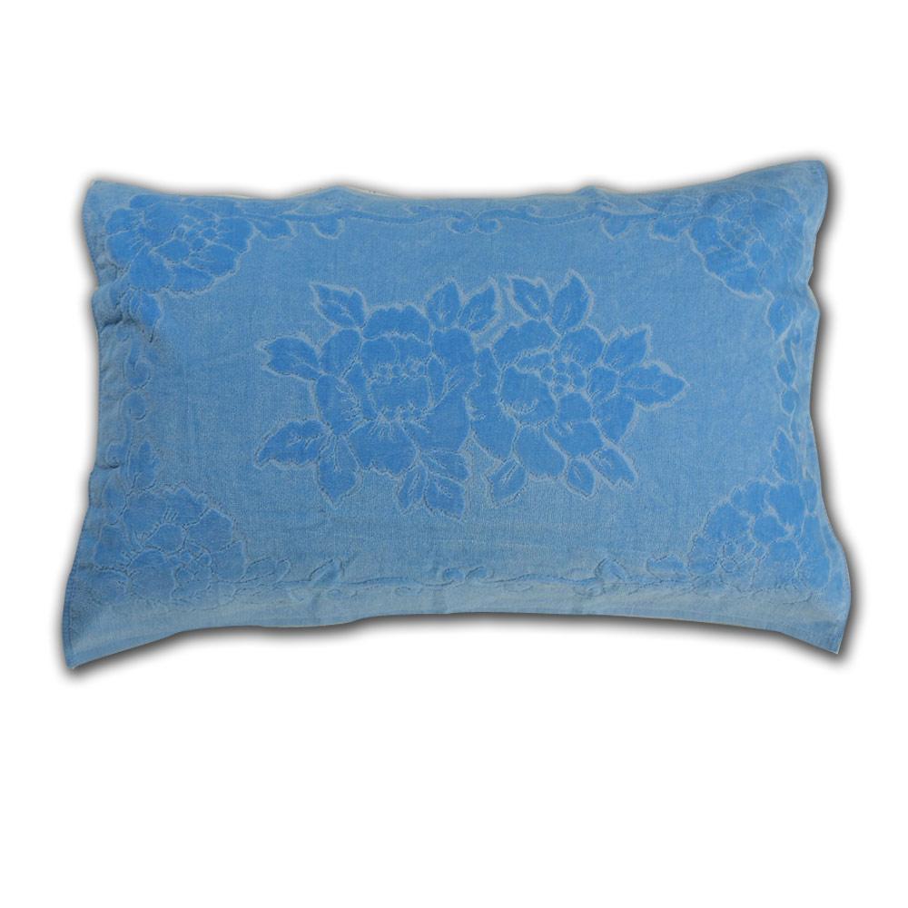 《HOYA active》超柔細純棉壓紋枕巾(2入) 6.天空藍