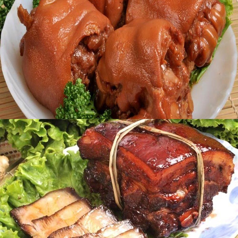 南門市場逸湘齋 東坡肉、花生豬腳(1270g/2入)