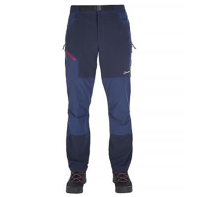 【Berghaus 貝豪斯】男款4方彈性登山保暖長褲H31MH4灰/藍