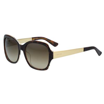 GUCCI-花卉絲巾 太陽眼鏡(琥珀色)