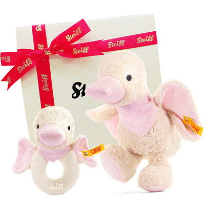 STEIFF德國精品泰迪熊 - 粉紅小鴨禮盒