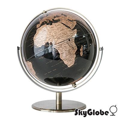 SkyGlobe 10吋精緻深藍色360度旋轉地球儀(英文版)