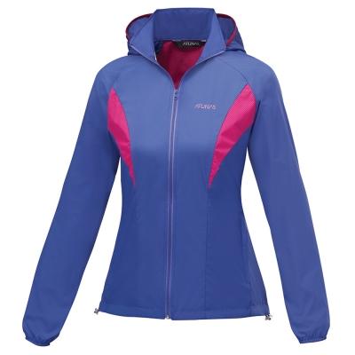 【ATUNAS 歐都納】女款防曬透氣輕薄外套 A-G1606W 藍紫/桃紫
