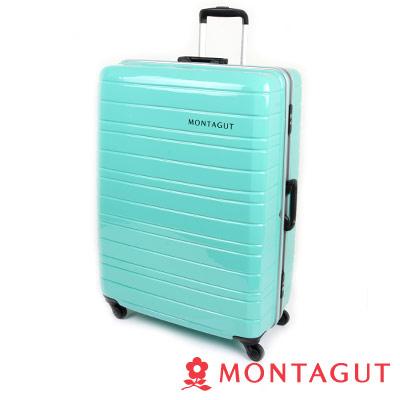 MONTAGUT夢特嬌 30吋 超輕量鋁鎂框鏡面 行李箱-湖綠色