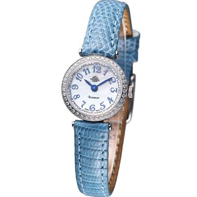 Rosemont 茶香玫瑰系列超薄晶鑽時尚腕錶-20mm