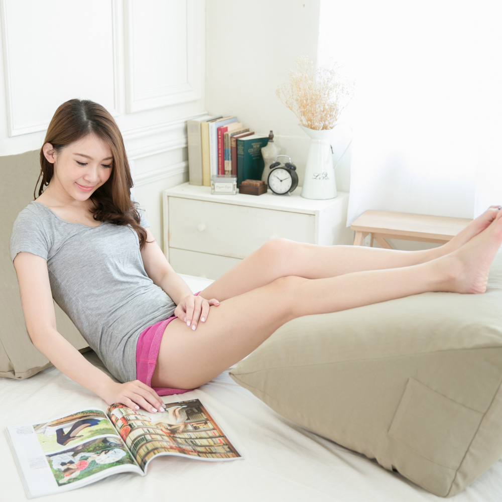凱蕾絲帝 台灣製造-得體多功能加大舒壓美腿枕/抬腿枕/靠墊-茉綠秋香(1入)