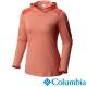 【Columbia哥倫比亞】女-鈦 酷涼快排長袖連帽上衣-橘紅 UAL19240AH product thumbnail 2