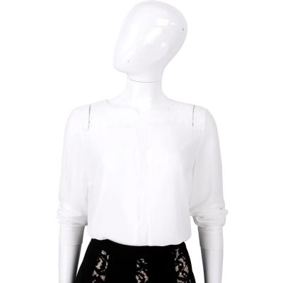 BLUGIRL 白色蕾絲拼接長袖上衣