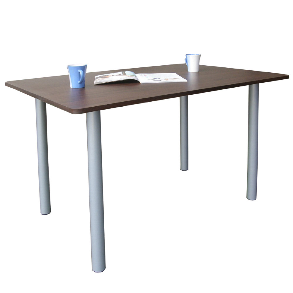 Dr. DIY 桌面60x120cm電腦桌-含鍵盤架 (深胡桃木色)