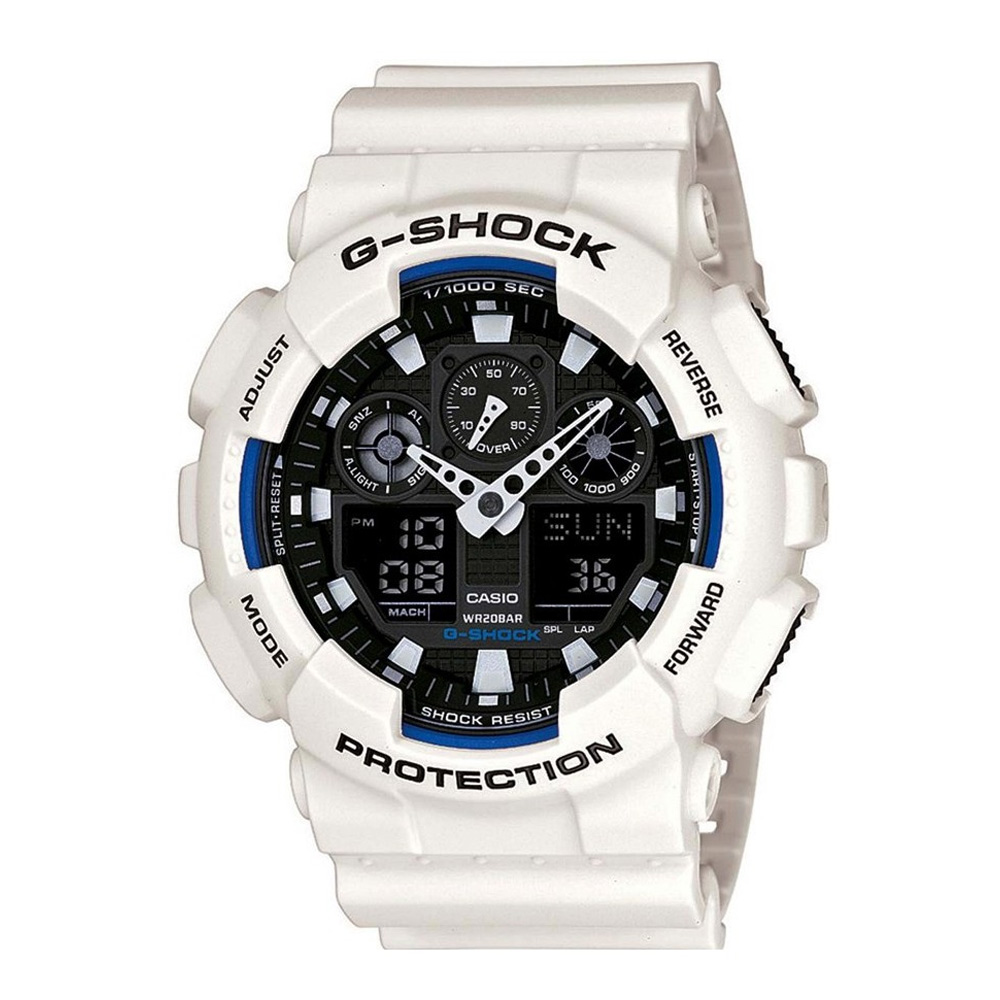 G-SHOCK 大膽搶色重機裝置Man運動錶(GA-100B-7A)-51.2mm