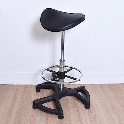 凱堡 馬鞍座工學設計軟PU吧檯椅/工作椅/釋壓椅/氣壓椅