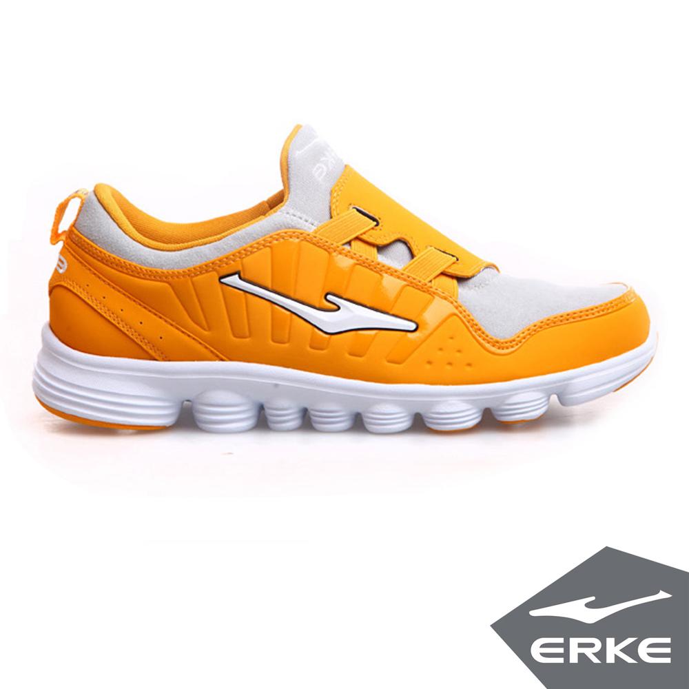 ERKE 鴻星爾克。男運動綜訓慢跑鞋-柑橘/淺灰