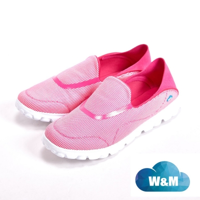 W&M MODARE 超彈力條紋舒適瑜珈鞋墊女鞋-粉(另有藍/黑)