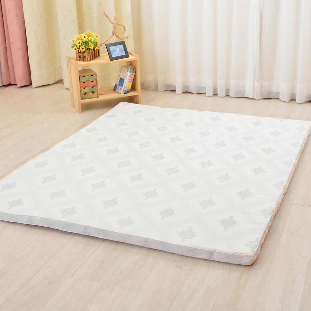LooCa 棉柔5cm天然乳膠床墊-加大6尺
