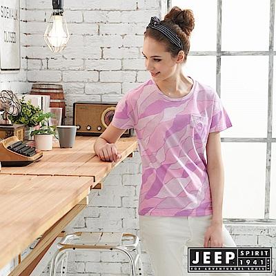 JEEP女裝 極簡短袖T恤-紫色