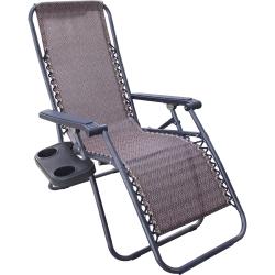 改良款舒適無段式休閒躺椅(附杯架)