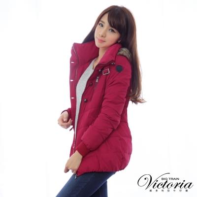 Victoria 花苞絲棉外套-女-紫紅