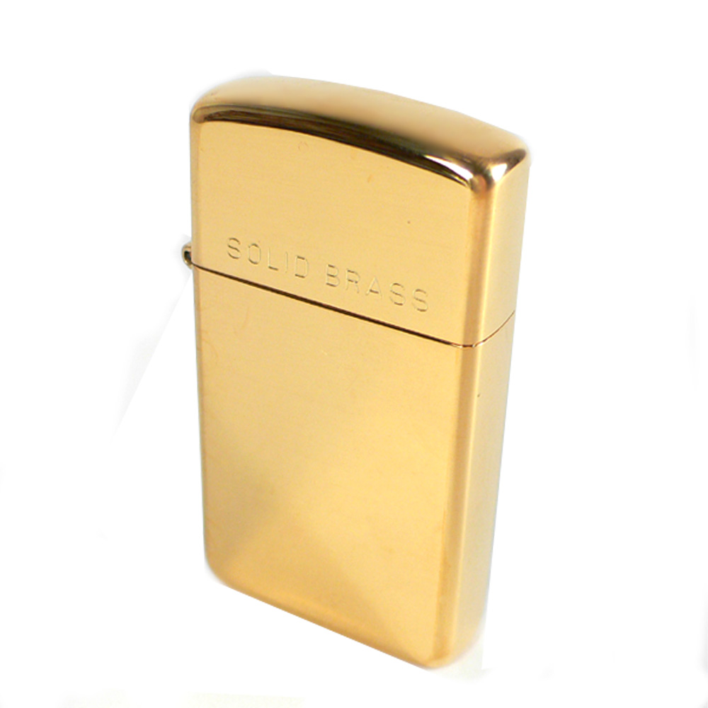 【ZIPPO】美系~Solid Brass~純銅高磨光金色鏡面(窄版)
