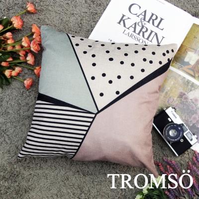 TROMSO品味英倫棉麻抱枕44x44cm U102北歐意念