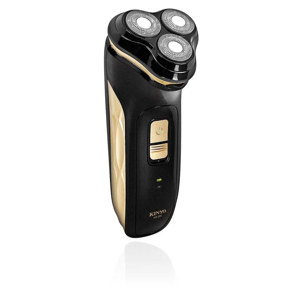 KINYO 充電式可水洗淨速三刀頭刮鬍刀