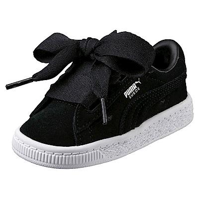 PUMA-SuedeHeartValentinePS孩童鞋-黑