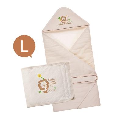 小獅王辛巴 大地系有機棉呵護二件組(L)(包巾+肚圍)
