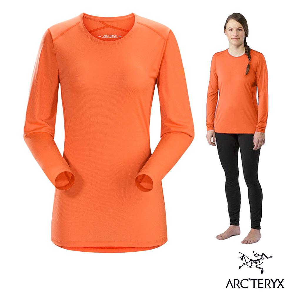 Arcteryx 始祖鳥 女 Phase SL 輕量 短袖排汗衣 橘