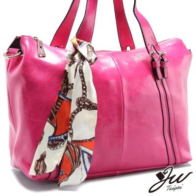 JW-真皮絲巾女人香牛皮手肩包-共六色