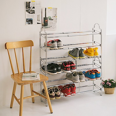 dayneeds可調式堆疊伸縮鞋架(二入)