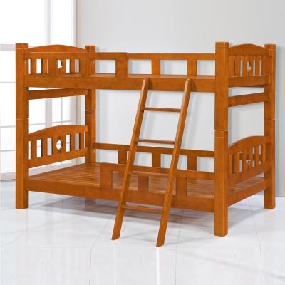 雙層床 黛芙妮全實木床架 松木色 AS