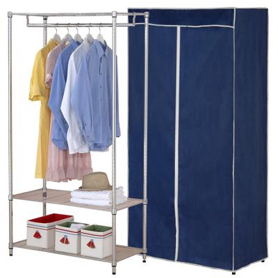 克諾斯-90-45-180三層防塵衣櫥架-附布套